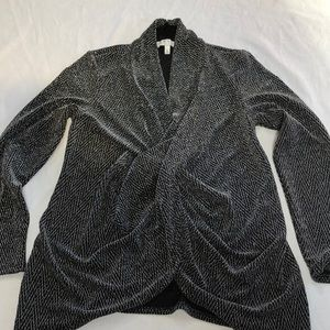 Chaus New York black with silver metallic, Large